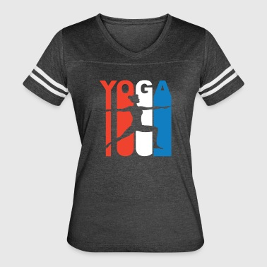 Red White And Blue Yoga - Women's Vintage Sport T-Shirt