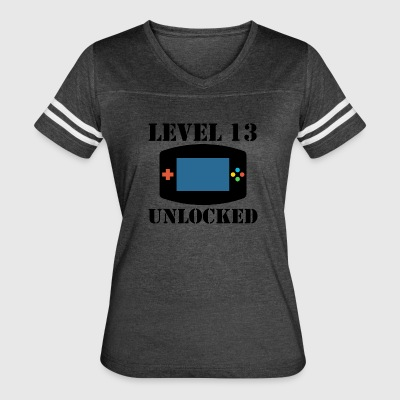 Level 13 Unlocked Video Games 13th Birthday - Women's Vintage Sport T-Shirt