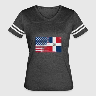Half Dominican Half American 100% Awesome Dominica - Women's Vintage Sport T-Shirt