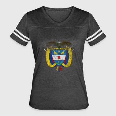 Colombian Coat of Arms Colombia Symbol - Women's Vintage Sport T-Shirt