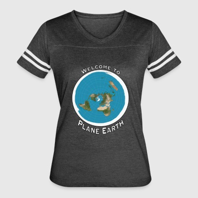 Welcome to Plane Earth - Women's Vintage Sport T-Shirt