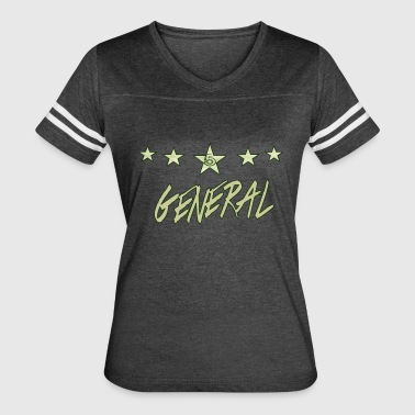 The Khaki General; khaki bold, with green finishes - Women's Vintage Sport T-Shirt