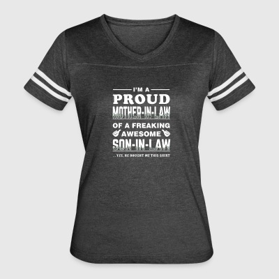I'm a proud Mother-in-law shirt - Women's Vintage Sport T-Shirt