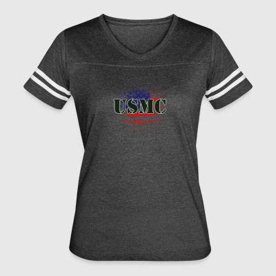 Marines and flag - Women's Vintage Sport T-Shirt