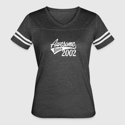 Awesome Since 2002 - Women's Vintage Sport T-Shirt