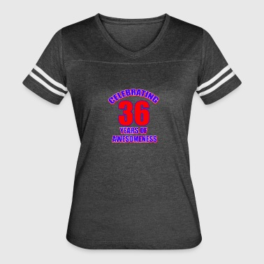 36th birthday design - Women's Vintage Sport T-Shirt