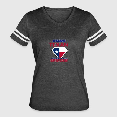 Funny Texas designs - Women's Vintage Sport T-Shirt