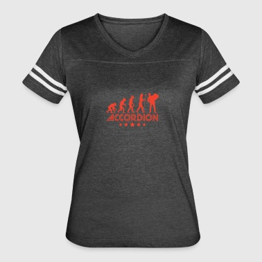 Retro Accordion Evolution - Women's Vintage Sport T-Shirt