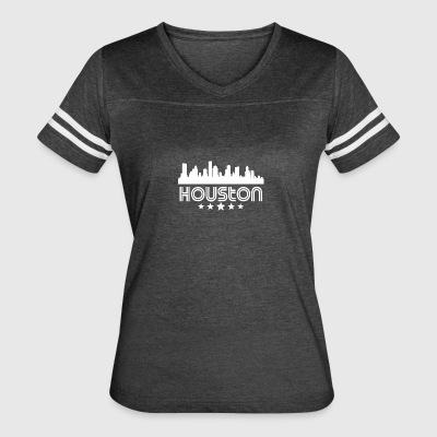 Retro Houston Skyline - Women's Vintage Sport T-Shirt