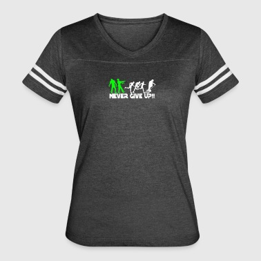 Zombie never give up Fun - Women's Vintage Sport T-Shirt