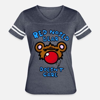 Red Nose red nosed bear - Women's Vintage Sport T-Shirt