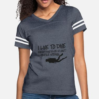 Diving scuba diving - Women's Vintage Sport T-Shirt