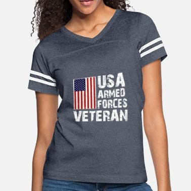 02b2500e USA Armed Forces Veteran T-Shirt - Women's Vintage Sport T