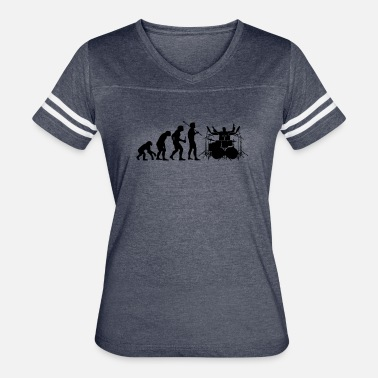 Evolution Of Drummer Evolution Evolution of Drummer - Women's Vintage Sport T-Shirt