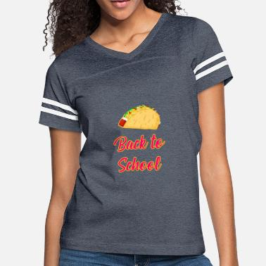 Food Stamps Back to School Tacos Quote Design - Women's Vintage Sport T-Shirt