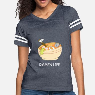 Noodle Bowl Egg Lover Ramen Cats Bath Noodles Bowl Kawaii Japanese Food - Women's Vintage Sport T-Shirt