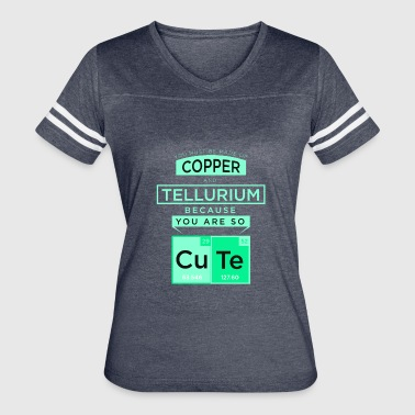 Copper Element copper cute chemistry chemist element metals quote - Women's Vintage Sport T-Shirt