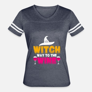 Witch Way Witch Way To The Wine - Women's Vintage Sport T-Shirt