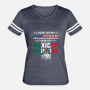 Mexican Roots Mexican American roots flag T-shirt - Women's Vintage Sport T-Shirt