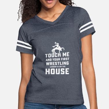 3f9f1db40 High School Wrestling First Wrestling Lesson Coach Designs - Women's  Vintage Sport. Women's Vintage Sport T-Shirt
