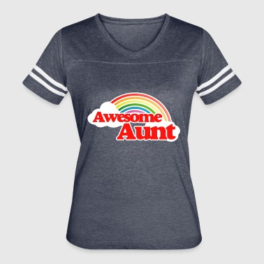 Awesome Aunt - Women's Vintage Sport T-Shirt