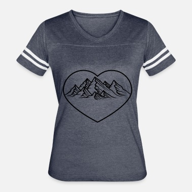Alps Mountains hiking shape mountains heart love i love hill alps - Women's Vintage Sport T-Shirt