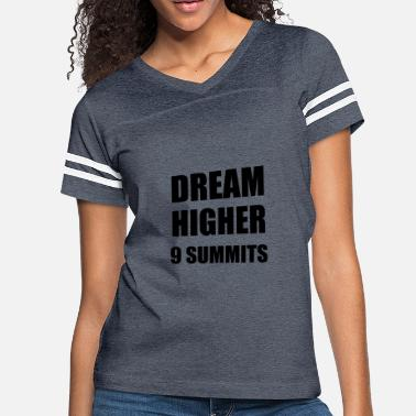 D H Kim DREAM HIGHER - 9 MOTTOS OF 9 SUMMITS - Women's Vintage Sport T-Shirt