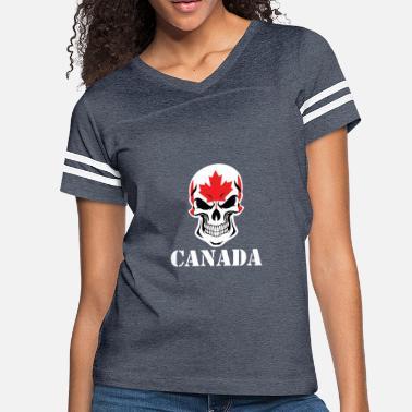 0be75a9b492 Canadian Skull Canadian Flag Skull Canada - Women  39 s Vintage Sport ...