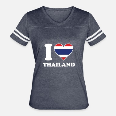 I Heart Thailand I Love Thailand Thai Flag Heart - Women's Vintage Sport T-Shirt