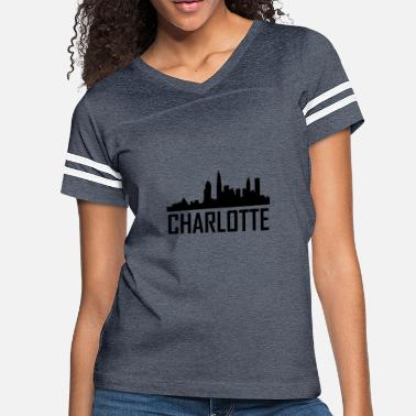 Charlotte City Charlotte North Carolina City Skyline - Women's Vintage Sport T-Shirt
