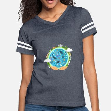Save The Planet ocean life - Women's Vintage Sport T-Shirt