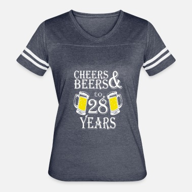 28 Years & Cheers And Beers To 28 Years - Women's Vintage Sport T-Shirt