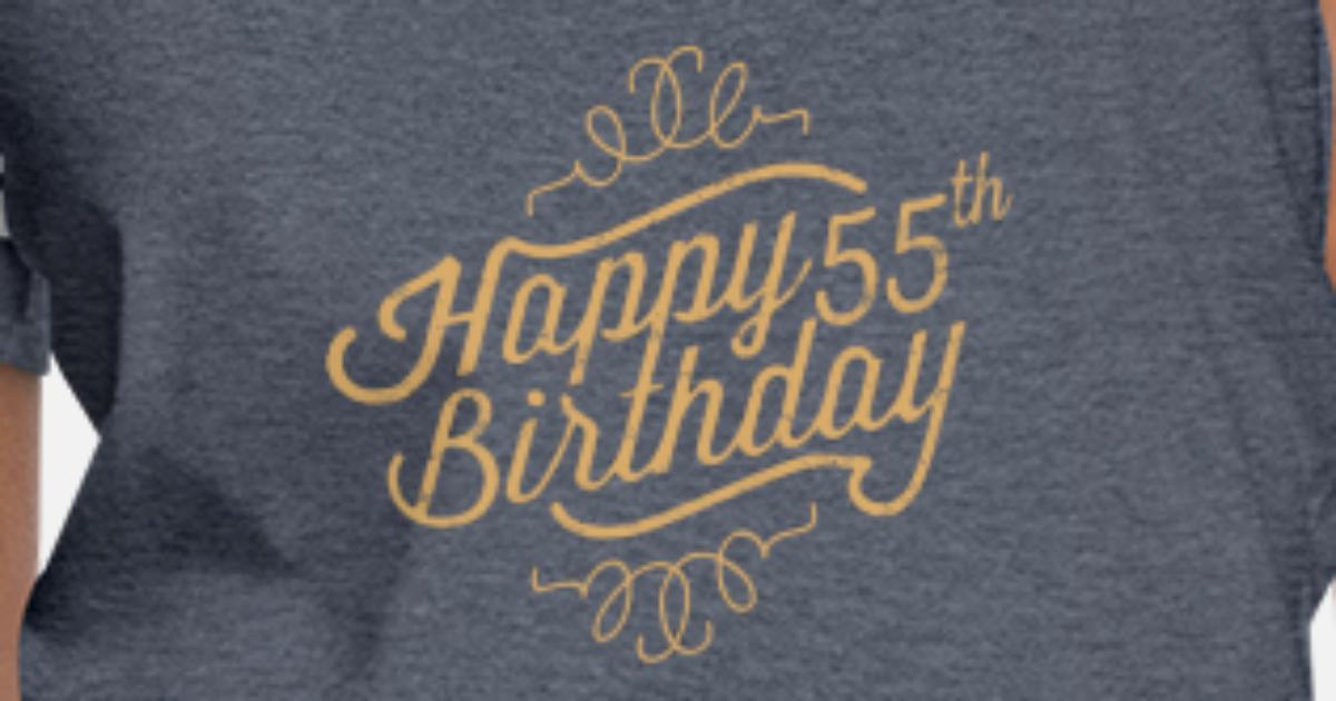 Happy 55th Birthday Womens Vintage Sport T Shirt
