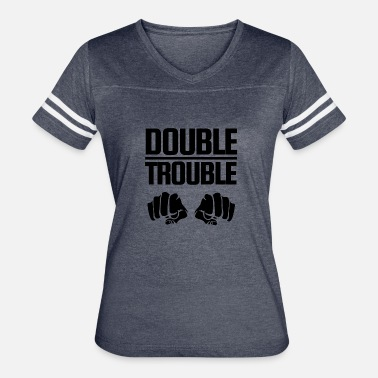 Double Fist Double Trouble - Women's Vintage Sport T-Shirt