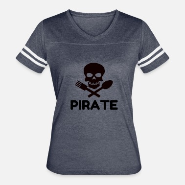 Jack Rackham PIRATE COOK - Women's Vintage Sport T-Shirt
