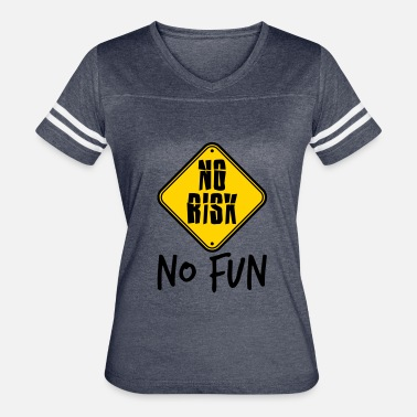 Fuck Signs caution sign shield frame text fucking spontaneous - Women's Vintage Sport T-Shirt