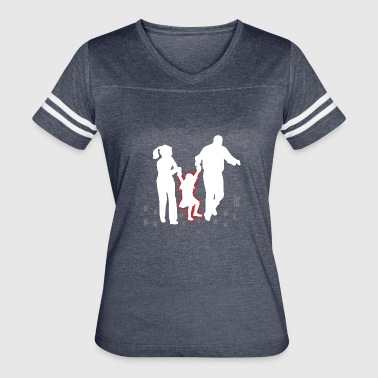 family | child parents giftidea gift parents - Women's Vintage Sport T-Shirt