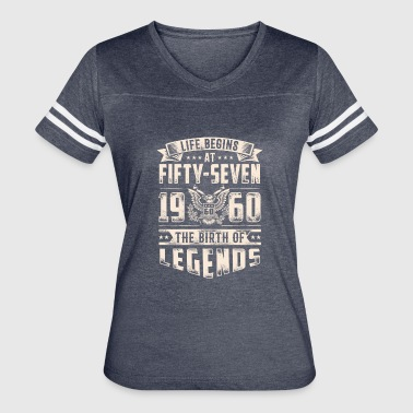 Fifty Seven Life Begins At Fifty Seven Tshirt - Women's Vintage Sport T-Shirt
