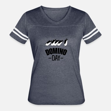 Domino Game Penguin Domino Day Funny T shirt - Women's Vintage Sport T-Shirt