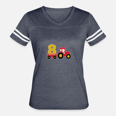 Old Trucks 8 years old and truck - Women's Vintage Sport T-Shirt