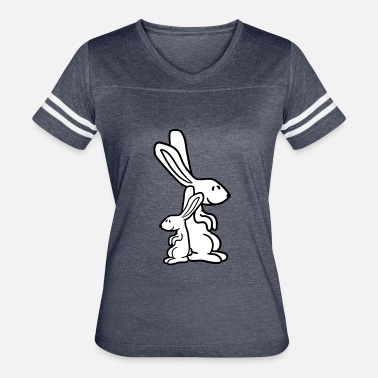 Rabbit Daddy child baby mom daddy bunny rabbit cute cute little - Women's Vintage Sport T-Shirt