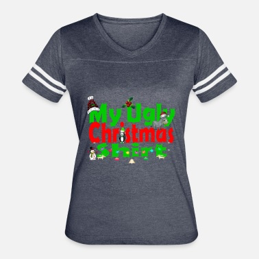 Ugly Christmas Ugly Merry Christmas - Women's Vintage Sport T-Shirt