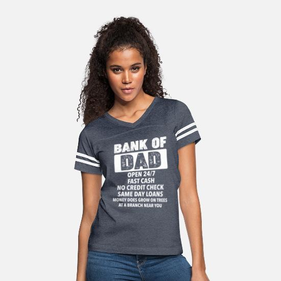 Daddy's Girl T-Shirts - The Bank Of Dad Money Grows On Trees Father's Day - Women's Vintage Sport T-Shirt vintage navy/white