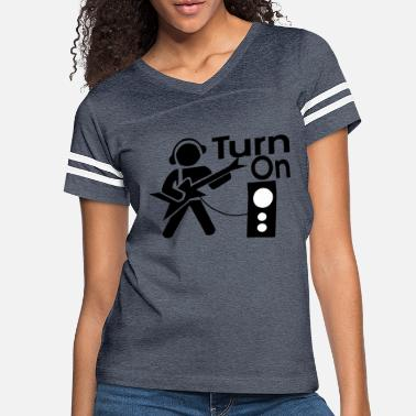 Turn On turn on the music - Women's Vintage Sport T-Shirt
