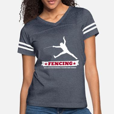 Football Fencing Fencer Riposte Football Players Joke - Women's Vintage Sport T-Shirt