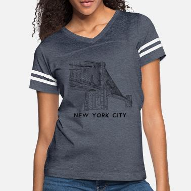 Brooklyn Bridge Brooklyn Bridge New York City - Women's Vintage Sport T-Shirt