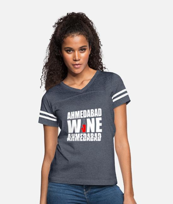Ahmedabad T-Shirts - Ahmedabad Hyderabad India - Women's Vintage Sport T-Shirt vintage navy/white