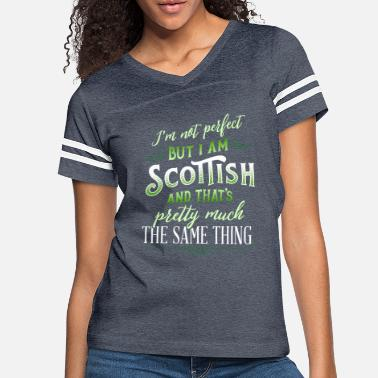 Clan Funny Scottish Quote Im Not Perfect But Im Scottis - Women's Vintage Sport T-Shirt