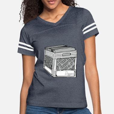 Uncle Crate Digger Dj Classic Collector Vinyl Gift Ideas - Women's Vintage Sport T-Shirt