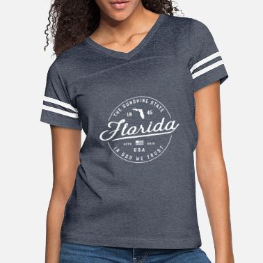 Florida State Slogan Travel Vacation - Women's Vintage Sport T-Shirt